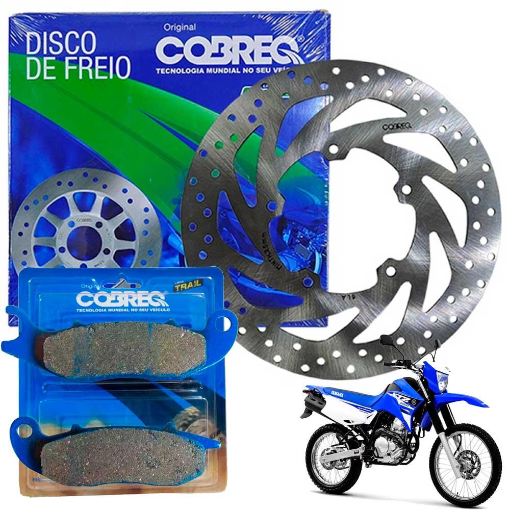 Disco Freio Dianteiro Lander 250 2016 em diante + Pastilhas Cobreq