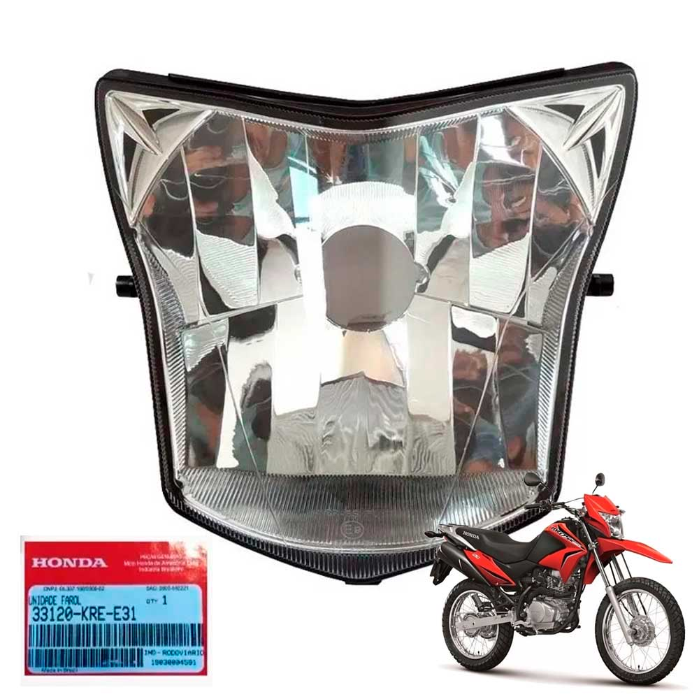 Farol da Bros 2014 2013 Bloco Óptico Original Honda