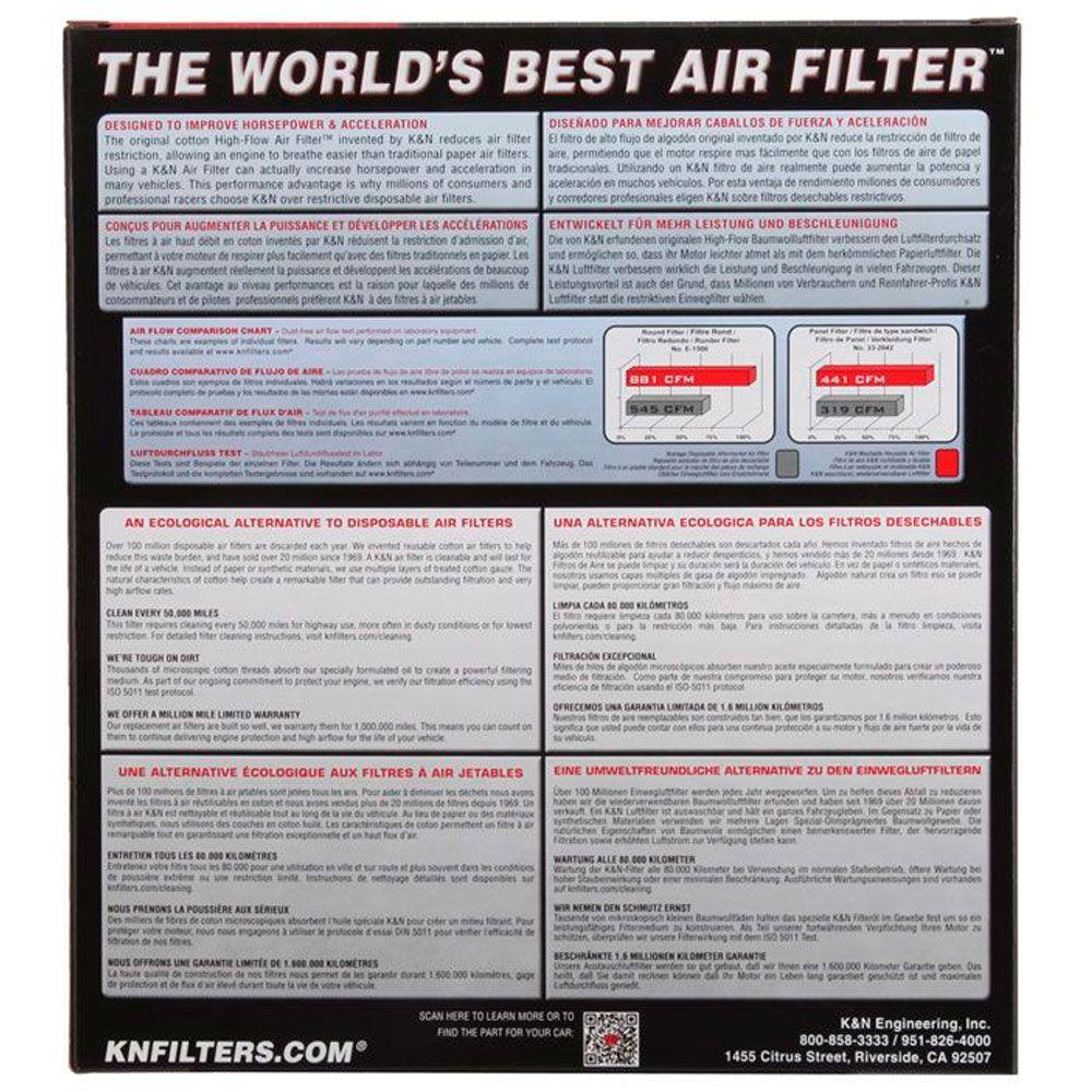 Filtro Ar K&n CBR 650F CBR650F 650 F Esportivo Lavável HA6414