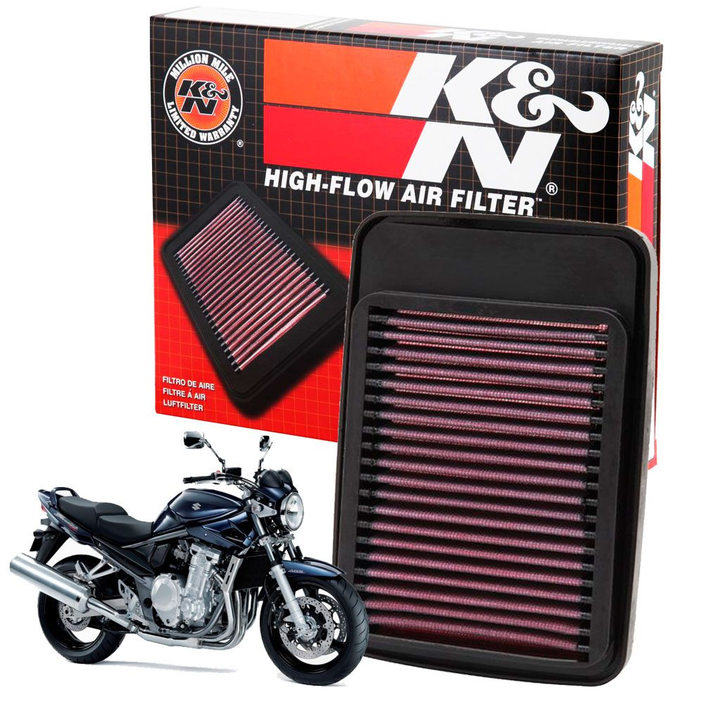 Filtro de Ar K&N Suzuki Bandit 1250 Todas Esportivo Lavável