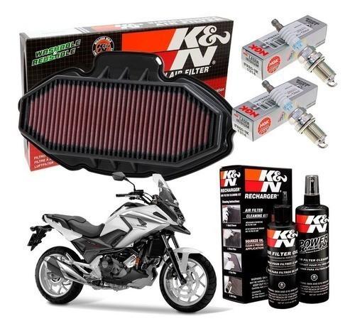 Filtro de Ar K&N NC750X NC 750X 700 Vela iridium Kit Limpeza