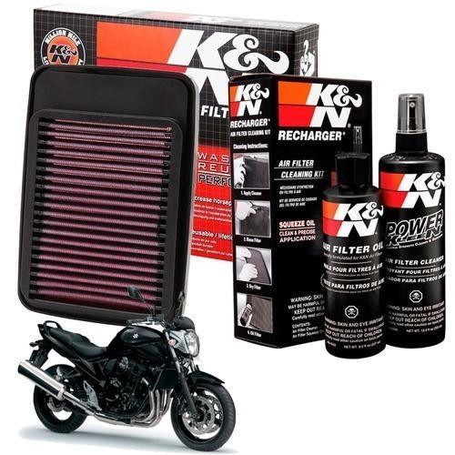 Filtro de Ar K&N Suzuki Bandit 650 Esportivo + Kit Limpeza