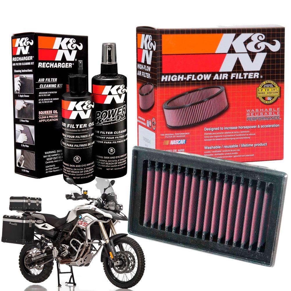 Filtro de Ar K&N BMW F800GS F800 GS F 800 K N + Kit Limpeza