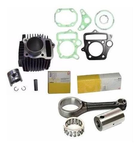 Kit Cilindro Motor + Biela + Juntas Metal Leve Biz 100 Pop100