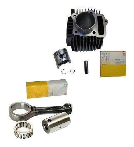 Kit Cilindro Motor Biz 100 Pop 100 Dream + Biela Metal Leve