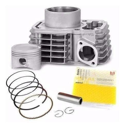 Kit Cilindro Motor Cg Titan 150 Fan Pistao Anéis Metal Leve