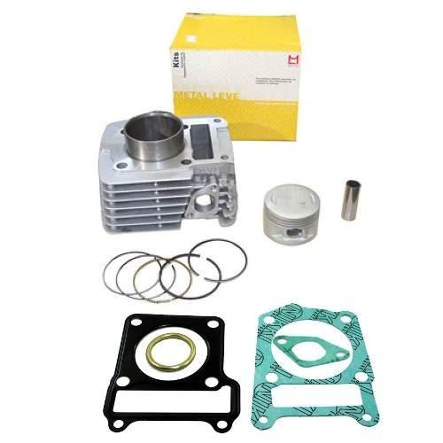 Kit Cilindro Motor Ybr Factor Xtz 125 Metal Leve + Juntas