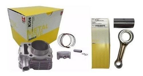 Kit Cilindro Pistão Biela Anéis Fazer 250 06-14 Metal Leve