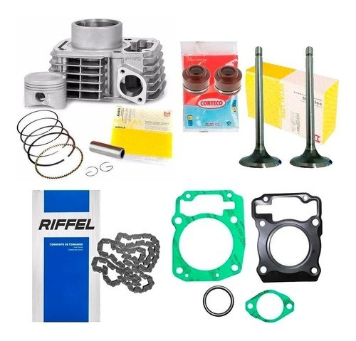 Kit Cilindro  Titan 150 Fan 150 Bros 150 Motor Retentor Valvulas Corrente