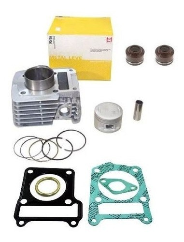 Kit Cilindro Ybr Factor Xtz 125 Metal Leve + Juntas + Retentores