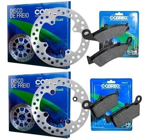 Kit Disco de Freio + Pastilha Xre 300 Sem ABS Cobreq Original