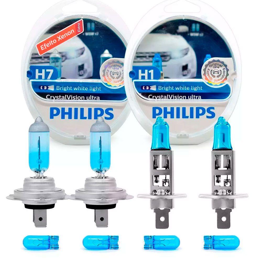 Kit Lâmpadas Philips H7 + H1 Crystal Vision Ultra 4300k