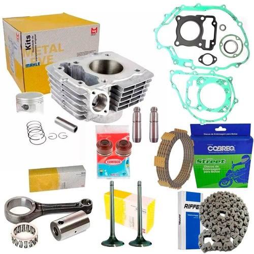 Kit Motor Titan 150 Biela Valvulas Corrente Embreagem Juntas