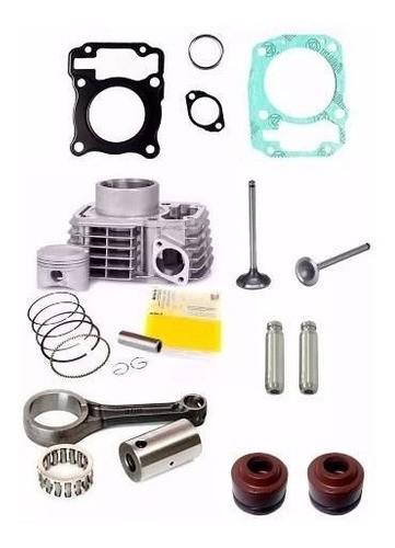 Kit Motor Titan Fan 150 Bros Cilindro+biela+válvulas+juntas