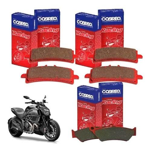 Kit Pastilha de Freio Ducati Diavel 1200 2011-2018 Cobreq