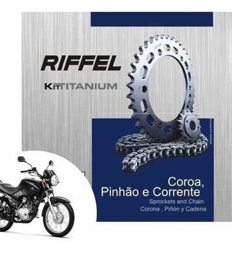 Kit Relação Factor 125 YBR 125 Transmissão Tração Riffel