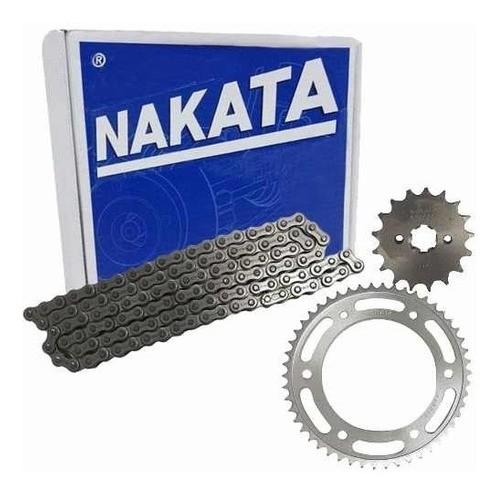 Kit Relação Tração Transmissão Nxr Bros 150 Nakata