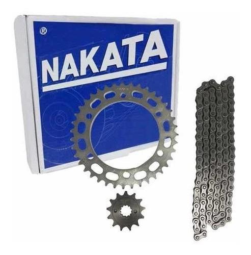 Kit Relação Tração Transmissão Xre 300 Todas Nakata