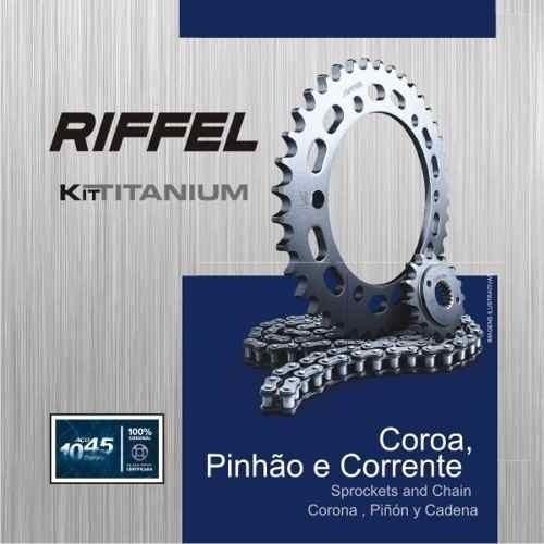 Kit Relação Transmissão Tração CB 300 CB300 Riffel Aço 1045