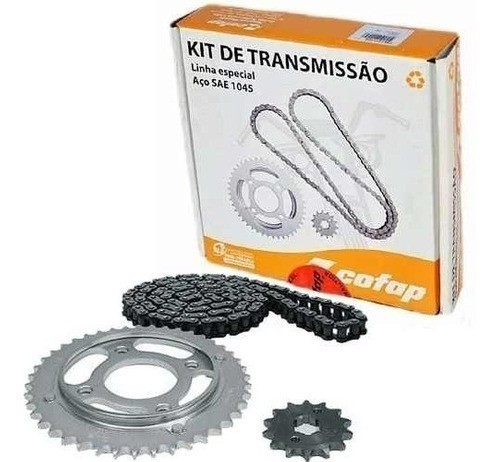 Kit Relação Transmissão Tração CG Titan 99 1976 até 1999 Cofap