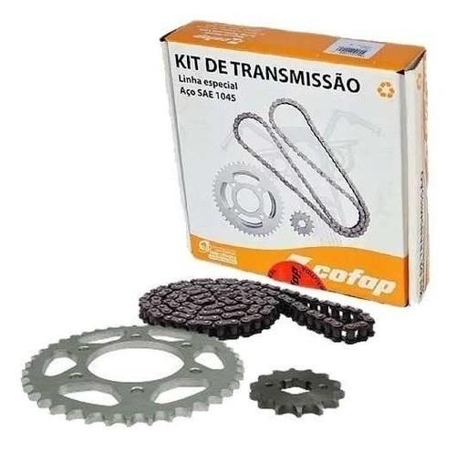 Kit Relação Transmissão Tração Fazer 150 Cofap Aço 1045