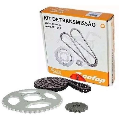 Kit Relação Transmissão Tração Xtz 125 Cofap Aço 1045