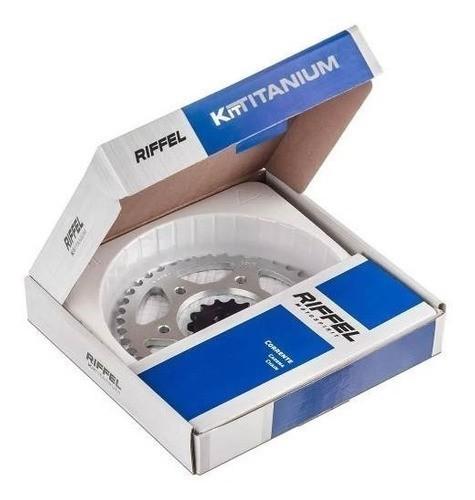 Kit Relação Transmissão Tração Yes 125 Intruder Katana Riffel Aço 1045
