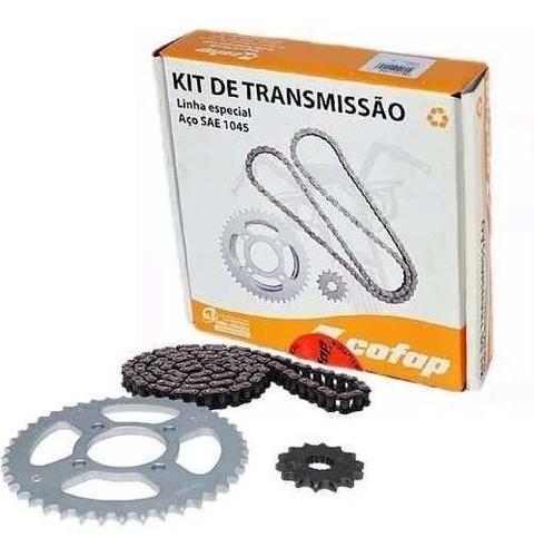 Kit Relação Transmissão Tração Yes 125 Katana 125 Cofap Aço 1045