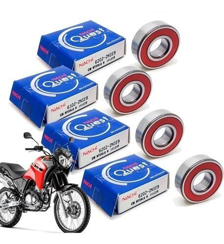 Kit Rolamento Roda Tenere 250 Dianteira Traseira Nachi Original