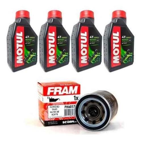 Kit Troca Oleo + Filtro Fram Honda Cb 650f Motul 5000 10w30