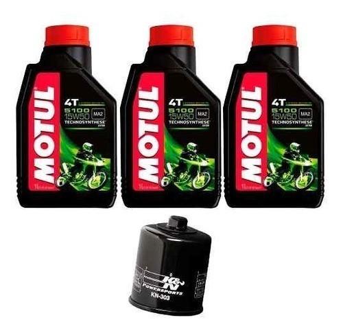 Kit Troca Oleo Filtro K&n KN K N Ninja 300 Z300 Motul 5100 15w50