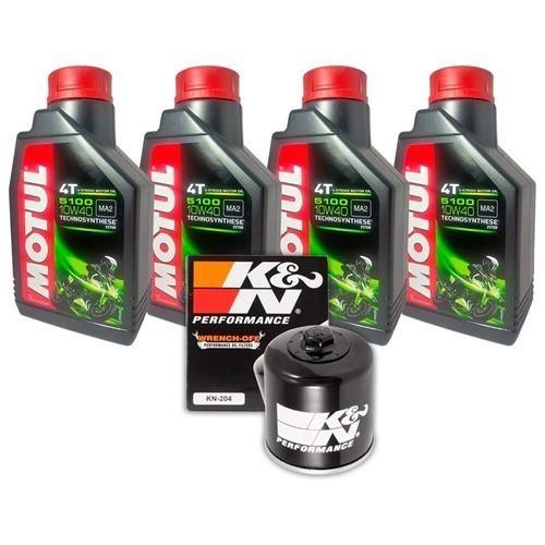 Kit Troca Óleo Z 1000 Z1000 Filtro K n 5100 10W40 KN204