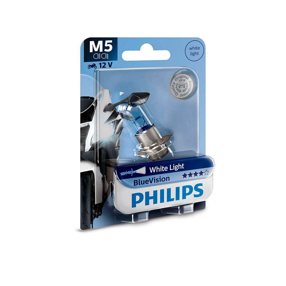Lâmpada Farol M5 Biz Bros Pop Dream Philips Efeito Xenon