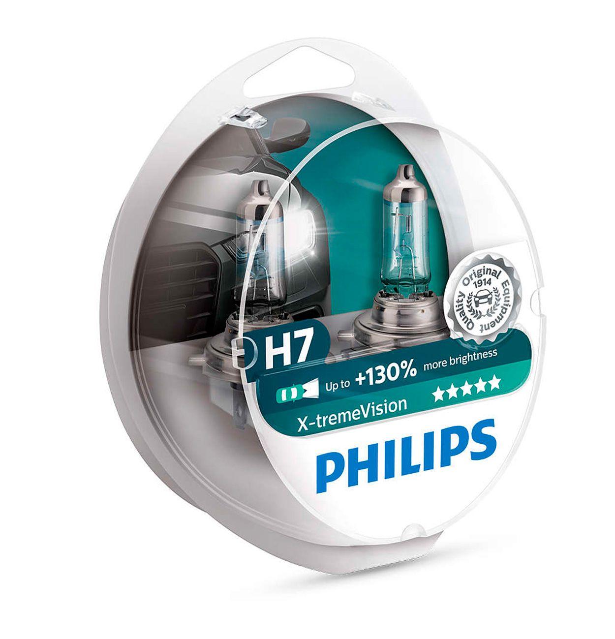 Lâmpada Philips Farol X-treme Vision 55w H7 Ninja 250 / 300 (Par)