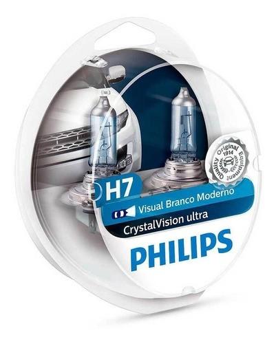 Lampada Philips Super Branca Crystal Vision Ninja 300 H7 55w