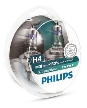 Lâmpada Philips Xtreme Farol H4 Falcon NC 700 CB 500 (Par)