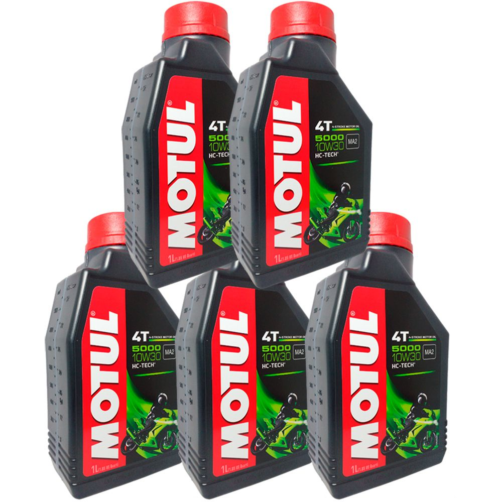 Oleo Motul 10w30 5000 Semissintetico 4t Hc-tech - 5 Litros
