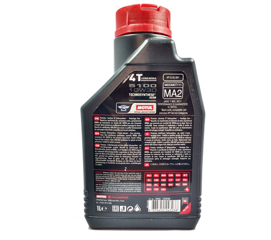 Oleo Motul 5100 10w30 Semi Sintetico Ester 3 Litros + C4