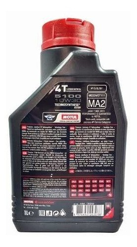 Oleo Motul 5100 10w30 Semi Sintetico Ester 4t - 3 Litros