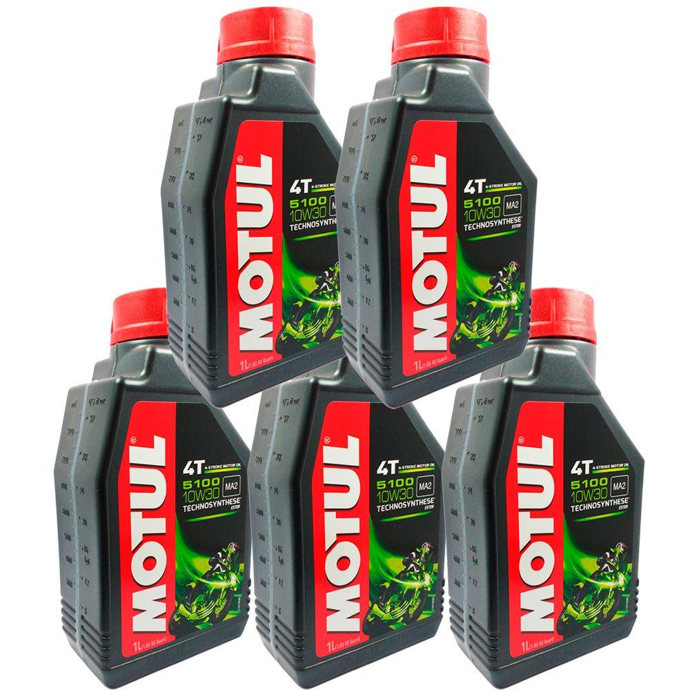 Oleo Motul 5100 10w30 Semi Sintetico Ester 4t - 5 Litros