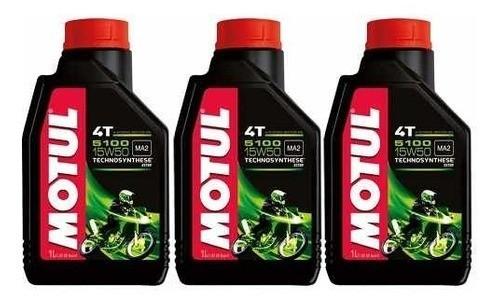 Oleo Motul 5100 15w50 Semissintético 4t Ester 3 Litros