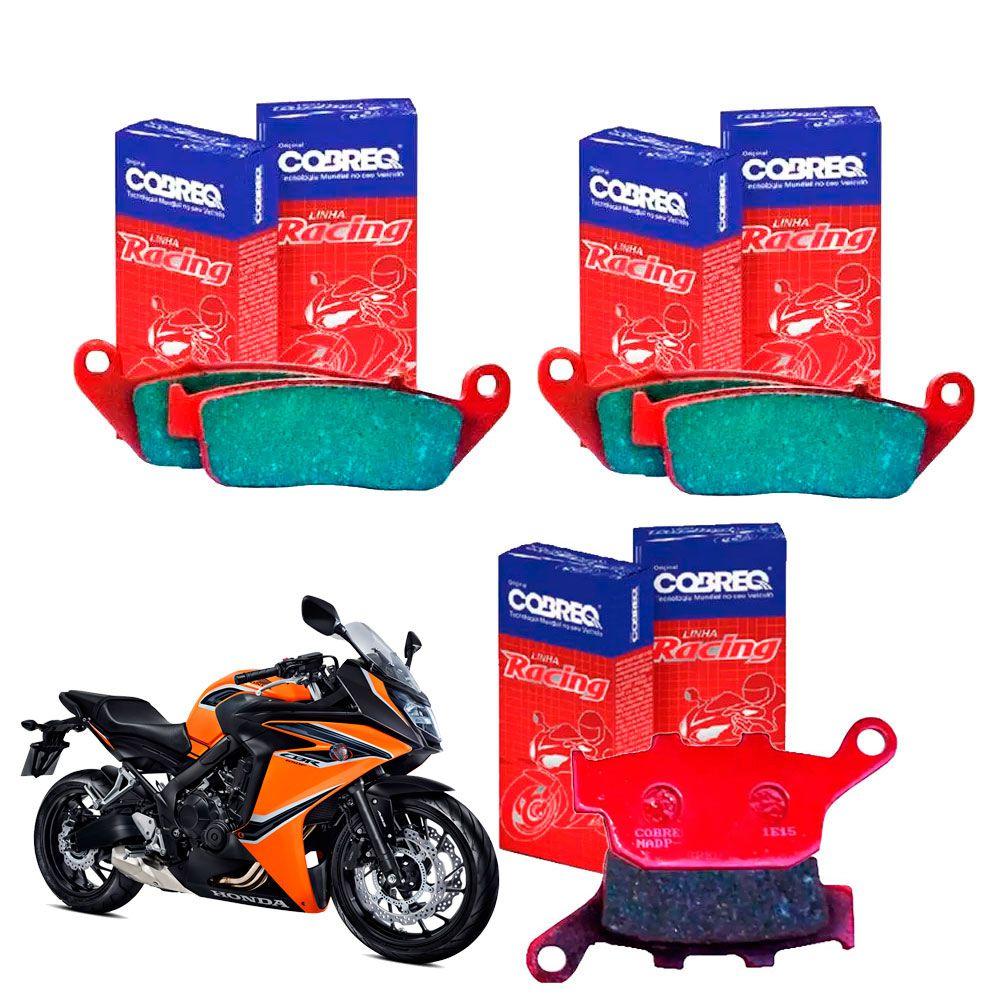 Pastilha de Freio CBR 650F CBR650F Com e Sem ABS Cobreq - Jogo