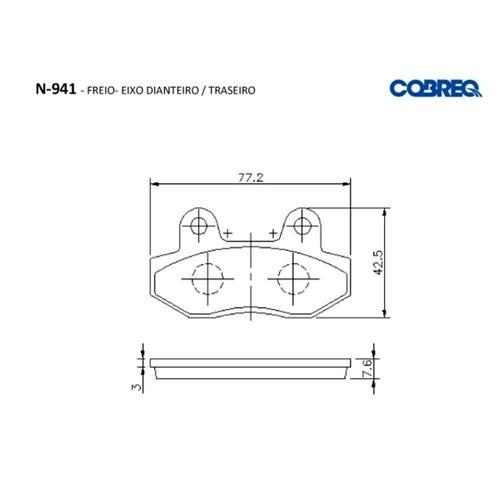 Pastilha de Freio Dafra Laser 150 Dianteiro Cobreq