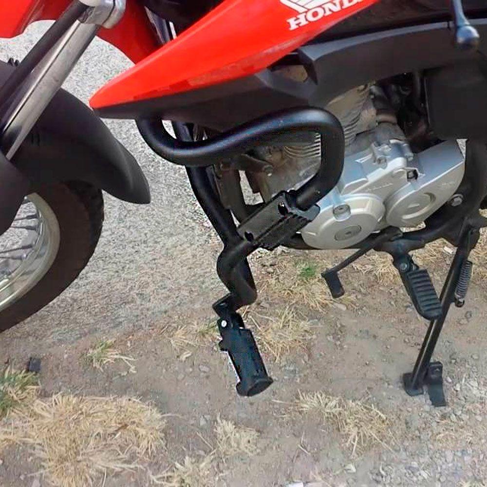 Protetor de Carenagem Bros 160 Motor com Pedaleiras Chapam