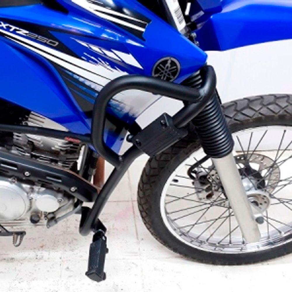 Protetor de Carenagem Lander 250 Motor Chapam Preto c/ Pedal