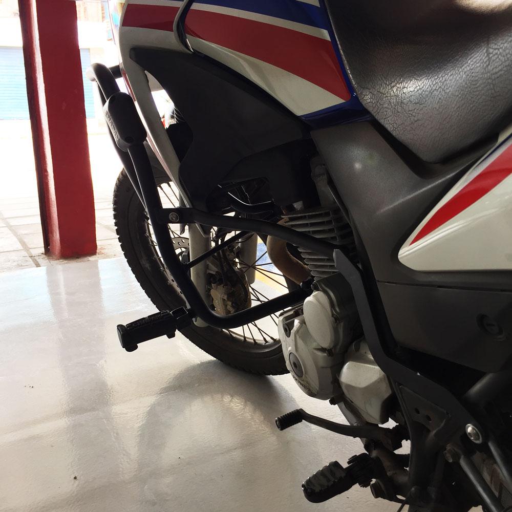 Protetor de Carenagem XRE 300 Motor com Pedaleiras Chapam