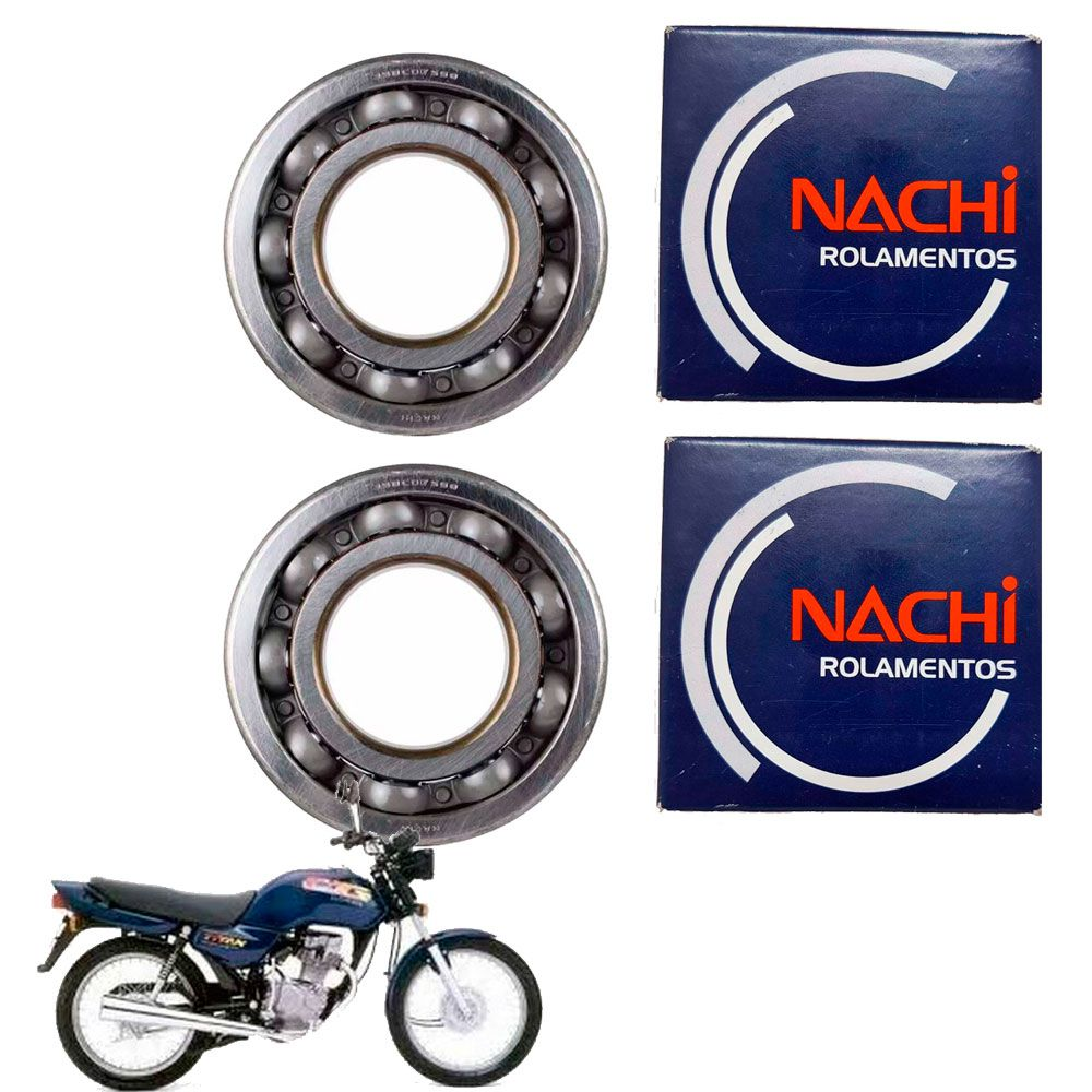 Rolamentos Virabrequim Cg Titan 99 Nachi 6328-nsl2 6328-hsc3