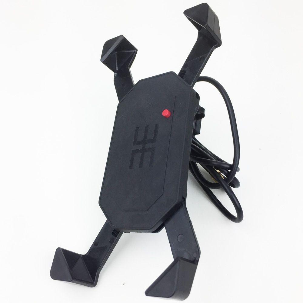 Suporte de Celular GPS para Moto c/ Carregador USB Universal