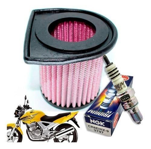 Vela Iridium CBX Twister 250 + Filtro de Ar Esportivo Royale