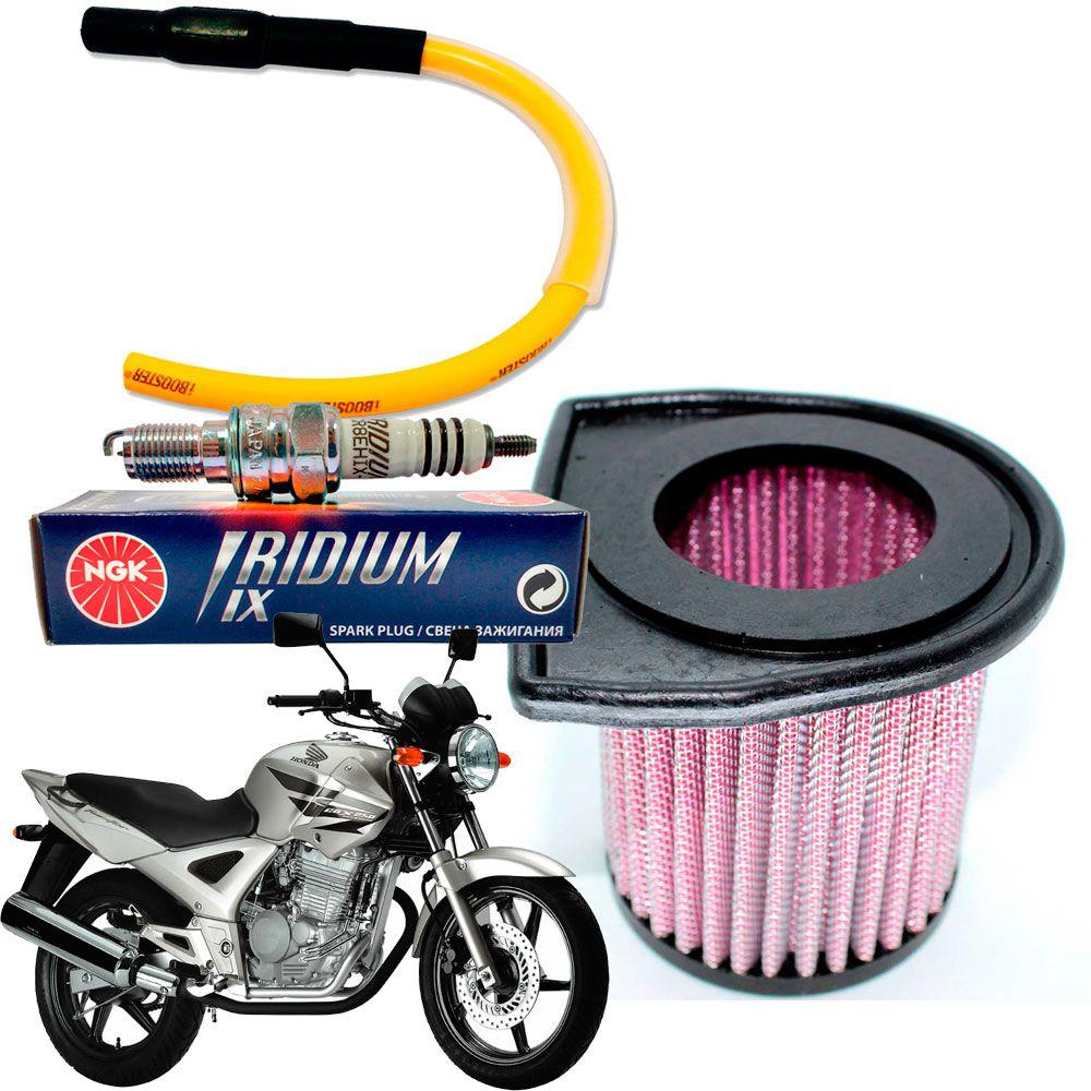 Vela Iridium Twister 250 + Filtro Ar Esportivo Cabo Ibooster